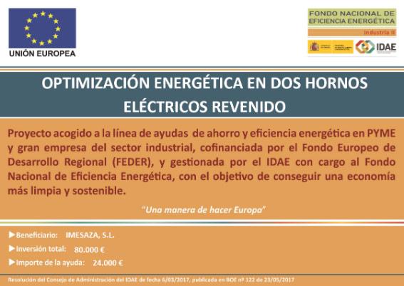 Optimización energética en dos hornos eléctricos de revenido
