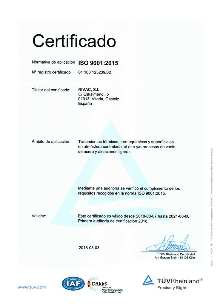 Nivac ISO 9001