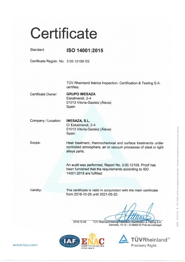 Imesaza ISO 14001:2015